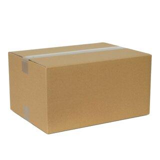 60 Faltkartons 400x350x200 mm Einwellig Versandkartons Karton B-Welle braun