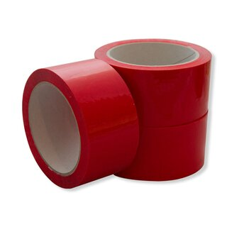 PP-Klebeband Rot 50 mm x 66 m, leise abrollend